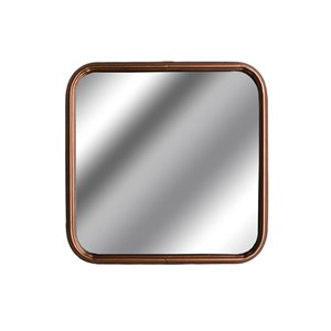 Industrial Square Copper Finished Mirror - 18864
