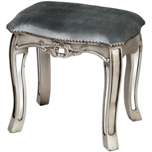 Argente Mirrored Dressing Table Stool - 13011