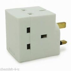3 Way Plug Adaptor 13 Amp