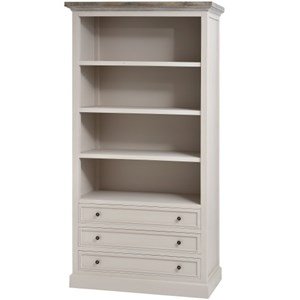 The Studley Collection Large 3 Drawer Bookcase - 16251