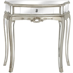 Argente Mirrored One Drawer Half Moon Console - 16907