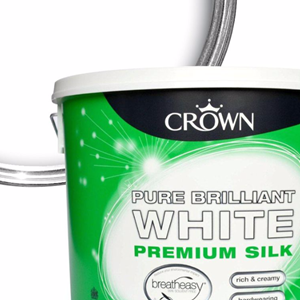Crown,Silk Emulsion,B/White