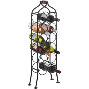 12 Bottle Wrought Iron Wine Rack - 14589