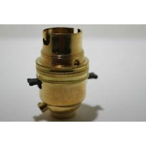 Dencon Brass Lampholder Switched