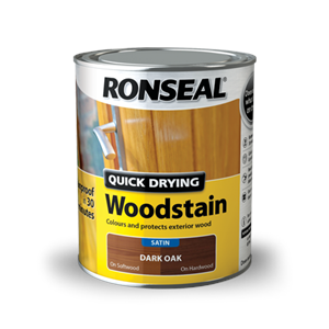 Ronseal,Q/Drying Woodstain,Satin
