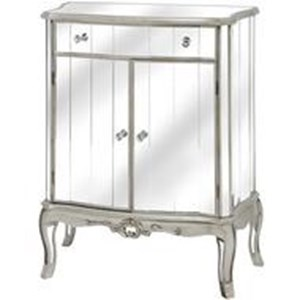 Argente Mirrored One Drawer Two Door Cabinet - 16903