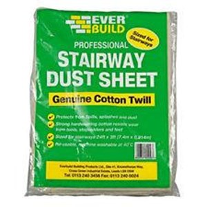Everbuild Stairway Dust Sheet 24ft x 3ft