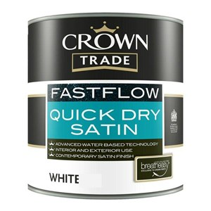 Crown,Trade Fastflow,Quick Drying Satin,White