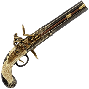 Double Barrelled Flintlock Pistol - G1264