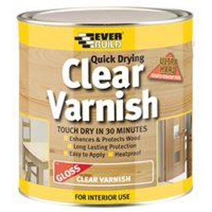 Everbuild,Q/Drying Clear Varnish