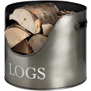 Antique Pewter Log Storage - 17528
