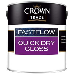 Crown Trade Fastflow,Quick Drying Gloss,White