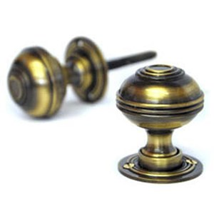 Antique Brass Windsor Door Knobs - D2360