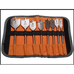 Bahco,Flat Bit Set,8 Piece in Roll Case