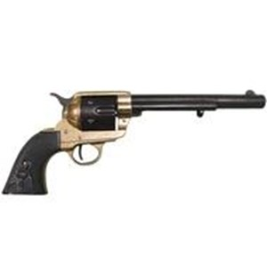 Colt Peacemaker With Black Handle,Black & Brass Finish,Long Barrel - G1109L