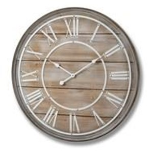 Large Wooden Wall Clock - 16343