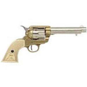 Colt Peacemaker With Ivory Handle,Nickel & Brass,Long Barrel - G1108/L