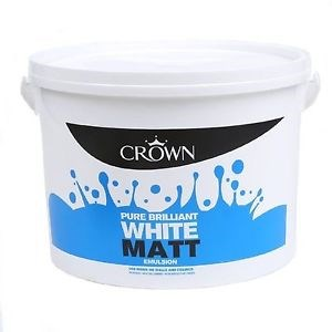 Crown Matt Emulsion B/White