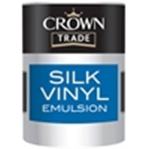Crown Trade Vinyl Silk Emulsion Magnolia 2.5 Ltr