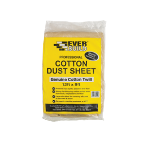 Everbuild Cotton Dust Sheet 12ft x 9ft