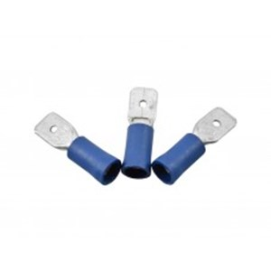 Cent' Blue Male Insulated Pushons 6.3mm
