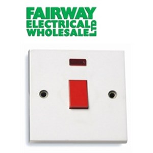 Fairway DP Cooker Switch With Neon 1 Gang 45 Amp