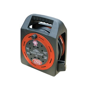 Faithfull Extension Reel 13 Amp 4 Socket 15 Mtr
