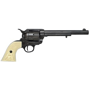Colt Peacemaker With Ivory Handle Black Long Barrel 1869