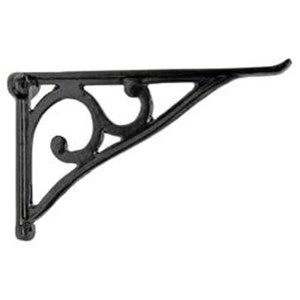 Simple Scroll Cast Iron Shelf Bracket - H1252