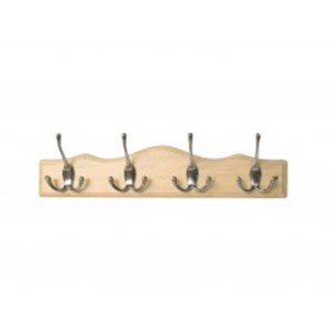 Cent' 4 CP Tri-Hooks On Scallop Top Pine Board