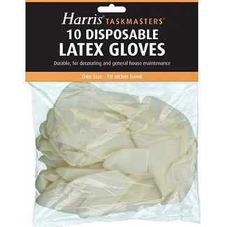 Harris Latex Disposable Gloves Pack 10