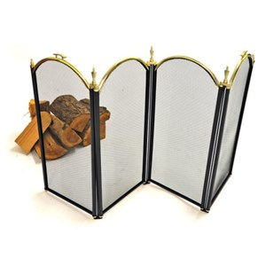 Windsor Fire Screen - Black and Brass - J1484
