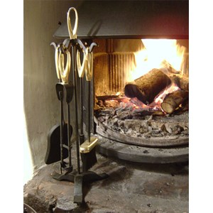 Elegance Fireside Companion Set with Brass Finials - J589
