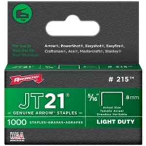 Arrow Staples JT21 Box 1000