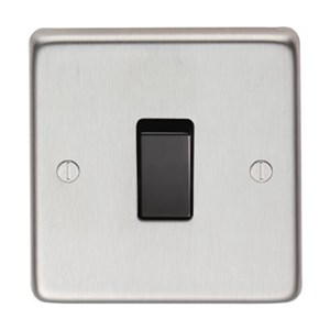 Satin Stainless Steel Single Light Switch - M3165