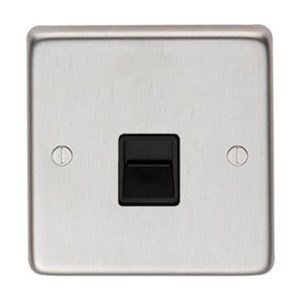 Satin Stainless Steel BT Slave/BT Master Telephone Socket - M3204