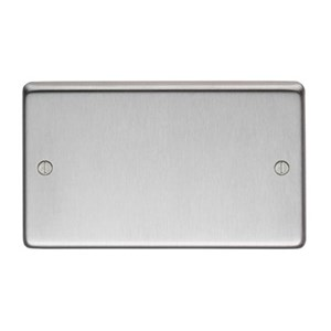 Satin Stainless Steel Double Blank Plate - M3216
