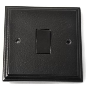 Black Single Light Switch - M718