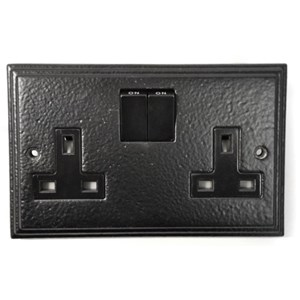 Black Double Socket - M722