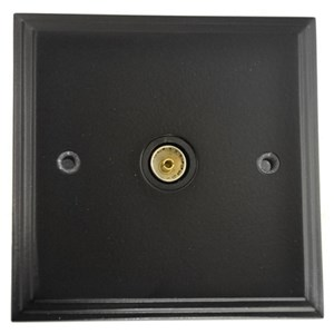 Black TV Coax Socket - M723
