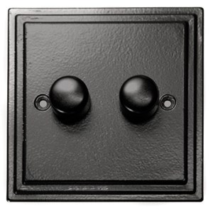 Black Double Dimmer Switch - M725