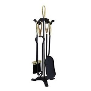 Manor Companion Set Black & Brass, LAST FEW IN STOCK