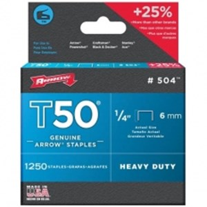 Arrow Staples T50 Box 1250