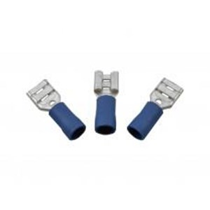 Cent' Blue Female Insulated Pushons 6.3mm