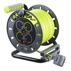Masterplug,13 Amp Cable Reel,4 Socket,25 Mtr