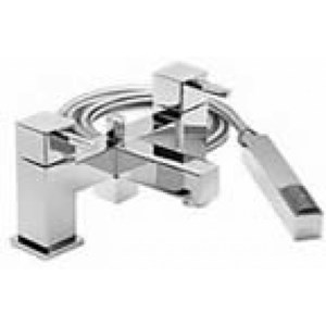 Square Style Cube Deck Mounted Shower Mixer Taps | AP1042TA