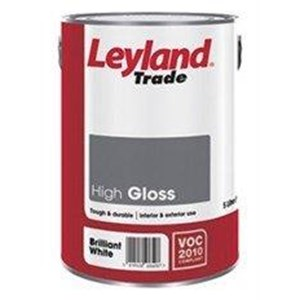 Leyland,Gloss Paint,Magnolia,5 Ltr