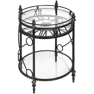 Clock Side Table - 18077