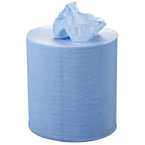 Blue Paper Cleaning Roll,190mm x 150 mtr