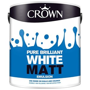 Crown,Matt Emulsion,B/White,2.5 Ltr